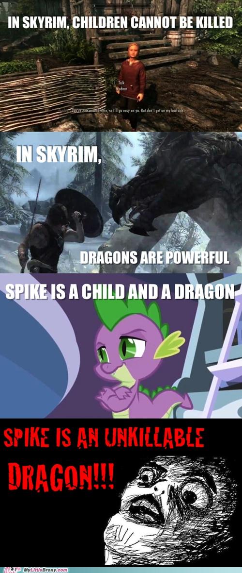 Haha, MLP/Skyrim crossover! :D | Spike | Pinterest | The ...