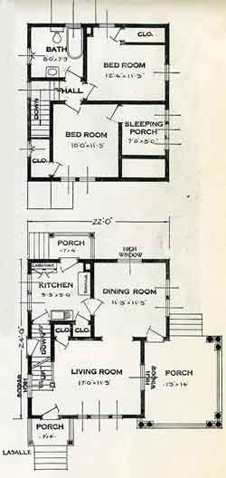 1926 standard house plans the la salle houses pinterest for Standard homes plans