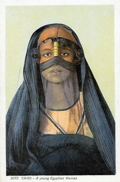 Cairo - A young Egyptian Woman ~ collection of coloured postcards by Lehnert & Landrock | ca. early 1900s