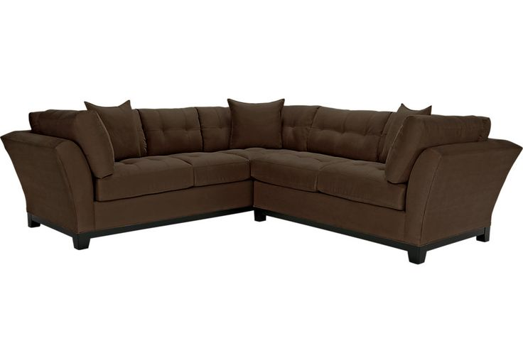 Cindy Crawford Home Metropolis Chocolate 2 Pc Sectional  - Living Room Sets (Brown)