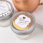Personalized Metallic Foil 4 oz. Mason Jar