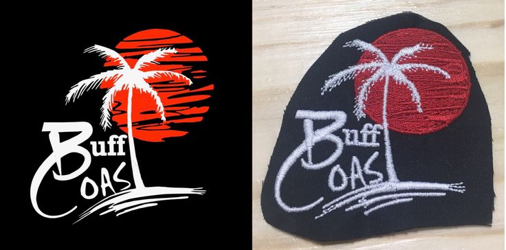 In case you're curious about what a logo looks like once it has been embroidered this is a great example!