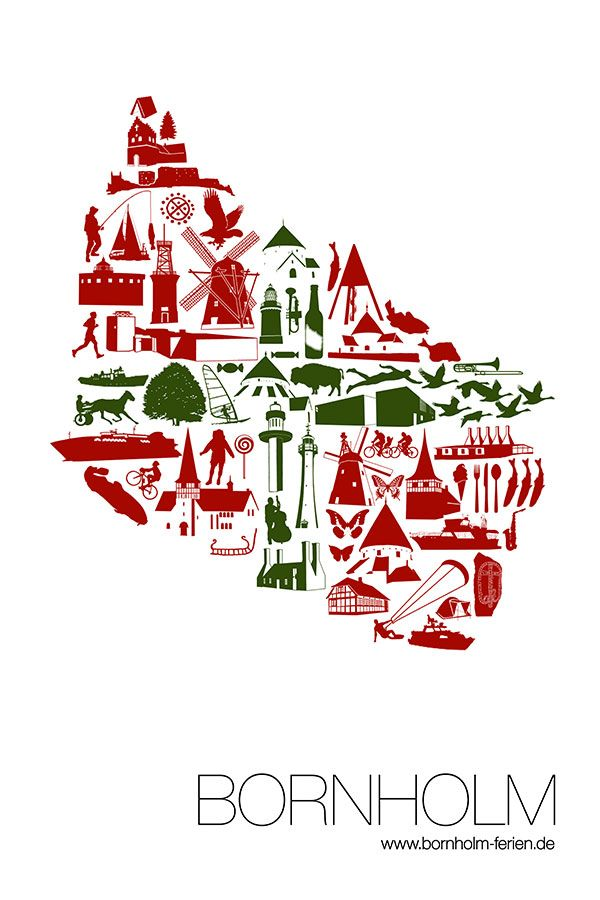 "Bornholm Poster Nr.1 ""Logo"" von Bornholm-Ferien.de #poster #bornholm #logo"