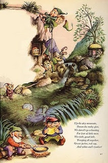 Garth Williams illustration for The Fairies by William Allingham, included in The Golden Books Treasury of Elves and Fairies.