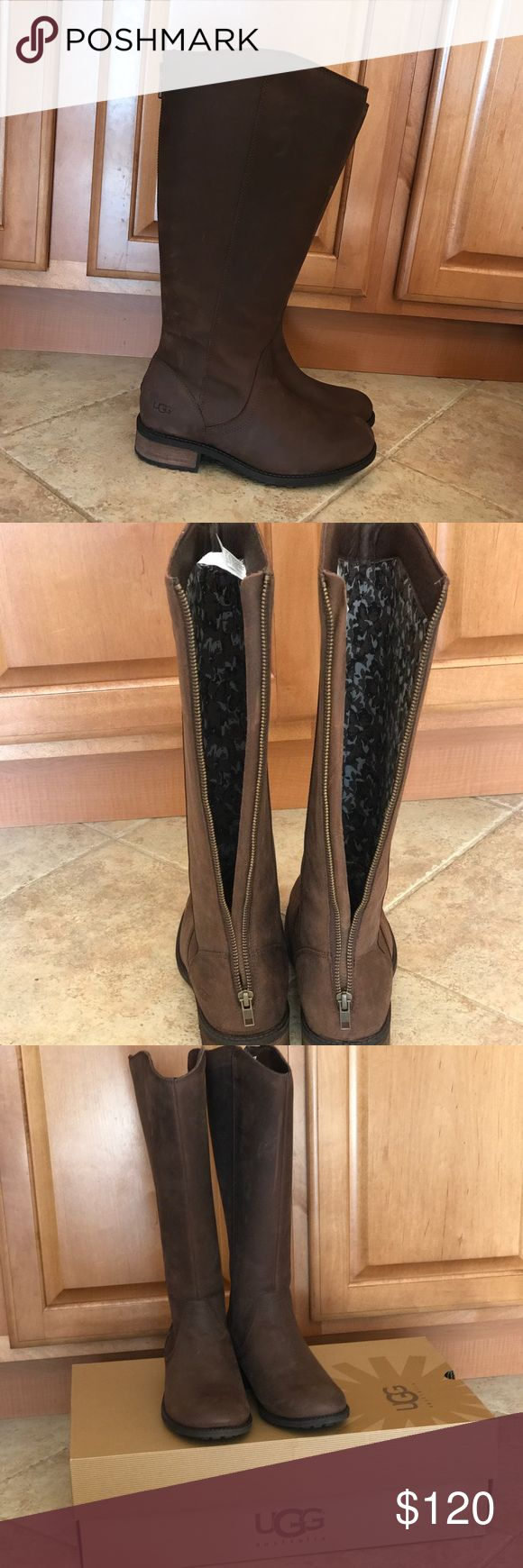 Ugg boots never been worn. Authentic with box. UGG Shoes Heeled Boots