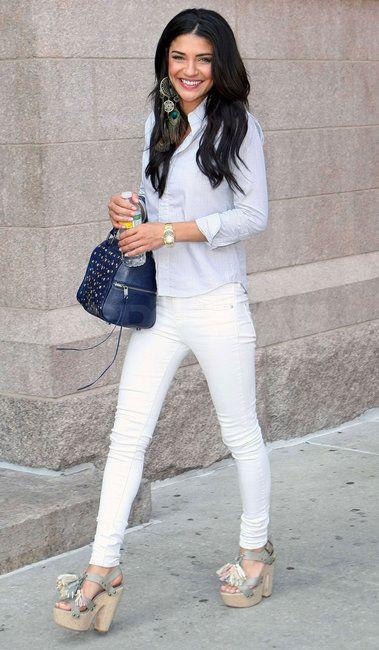 Jessica Szohr carrying a Rebecca Minkoff bag