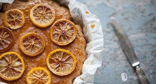 Torta vegan integrale al limone