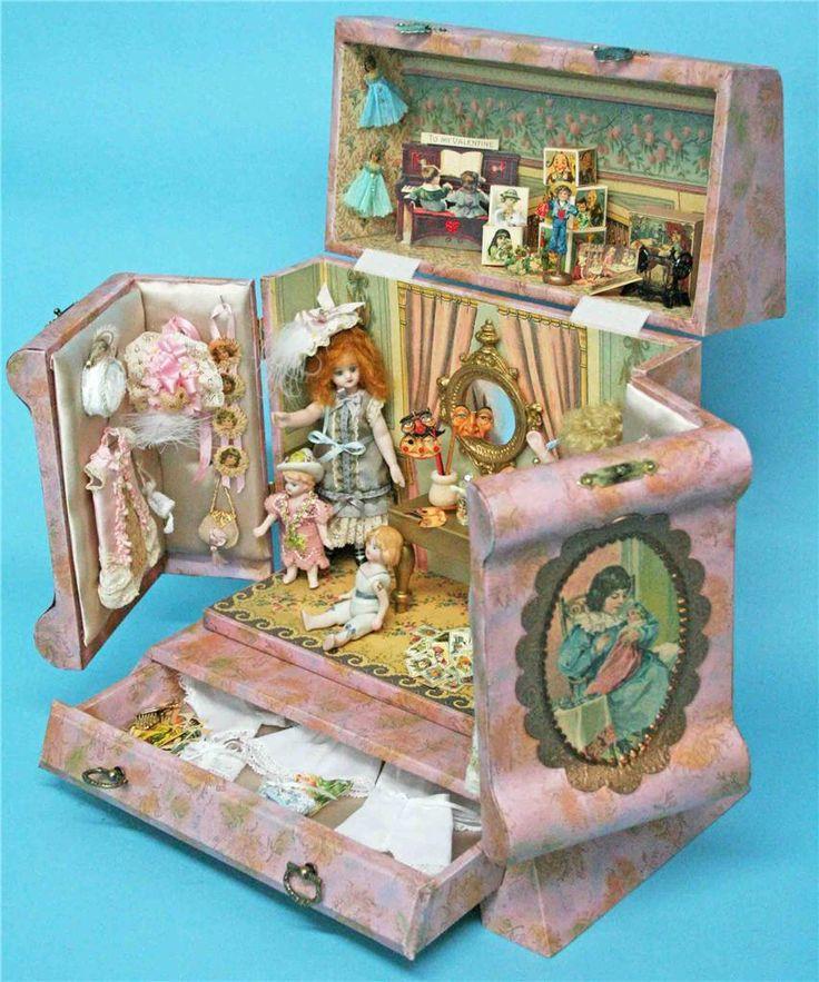 "kit on ebay..5"" mignonette presentation box designed after antique celluloid box"