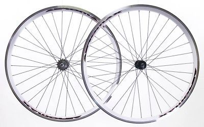 AEROMAX Track 700c Single Speed Freewheel / Fixed Gear Wheelset Bike White NEW