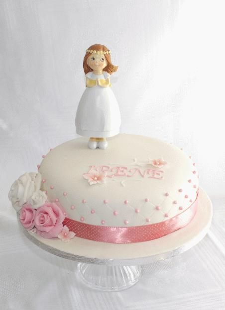 Simple First communion Cake - Cake by Delicut Cakes