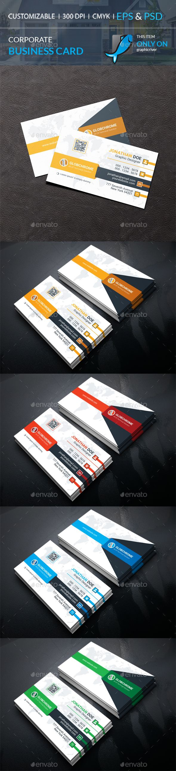 208 best business cards images on pinterest business card design corporate business card by galax e corporate business card well layered organised eps psd bleed cmyk print readytextfontscolors editable reheart Image collections