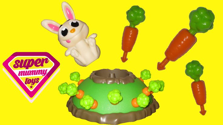 Bunny Jump Game Jumping Jack Toy Review. This video features the Bunny Jump game from University Games and Goliath Games.  In the USA, this is called the Jumping Jack game.  Watch me and my little helpers open this great kids game and show you how to play it!  The idea is that you pull out the carrots until the bunny jumps up, then you have to try and catch the bunny!  It's great family fun for your games night!