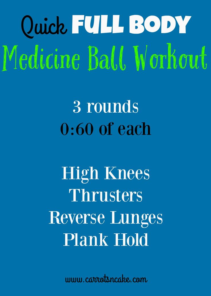 Quick Full Body Medicine Ball Workout but you can also use a kettle ball or weights.