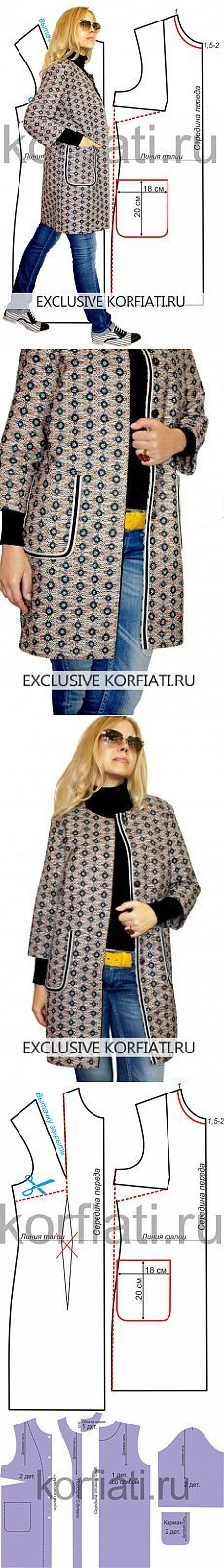 Выкройка легкого пальто от Анастасии Корфиати