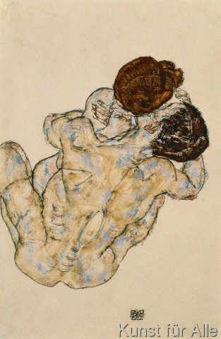 Egon Schiele - Umarmung