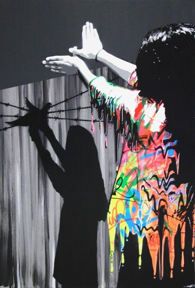 "KURAR street artist artwork named "" SAD REALITY II "" more details on ; kurar.fr/#home"