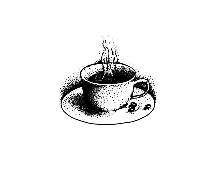 Coffee Cup tattoo design tattoos illustration dotwork linework blackwork stippling black coffee