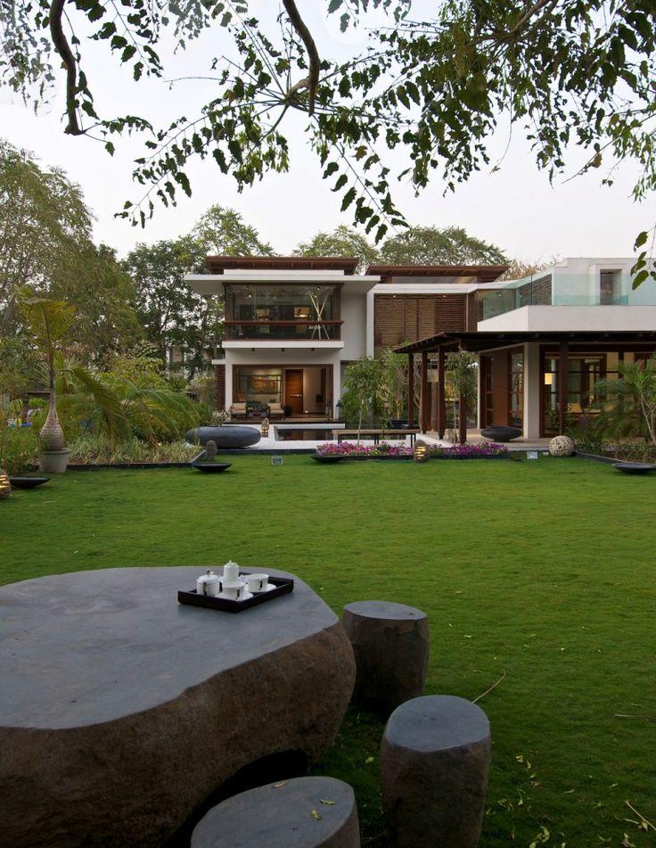 Huge Modern Houses 18 best modern indian house 1 images on pinterest | courtyard