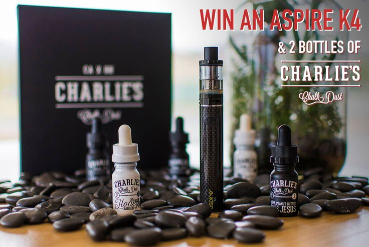 We're holding another one of our giveaways. This time you have the chance to win an Aspire K4 Quick Start Kit, along with two 30ml bottles of the premium Charlie's Chalk Dust from the U.S.  It's super easy to enter. All you need to do is head to The Vape Store Facebook Page  and like the competition post and leave a comment. Extra entry for sharing.  GOOD LUCK!!!