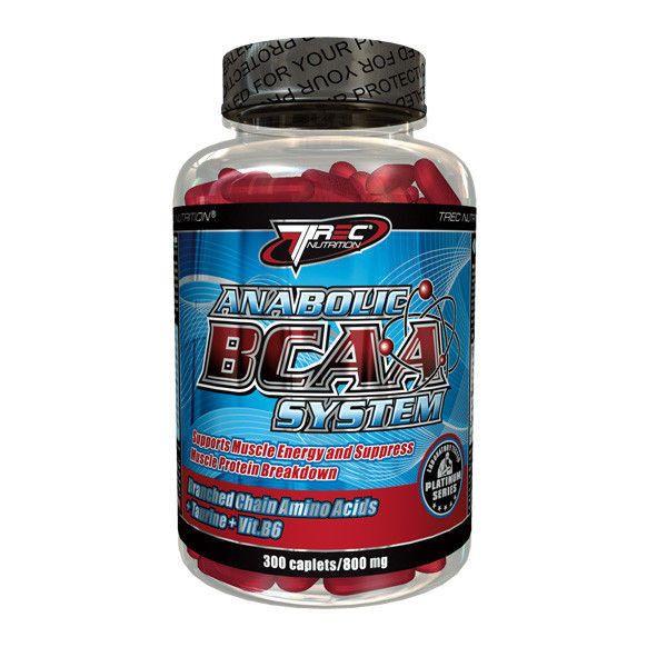 Trec - BCAA SYSTEM 300 kaps. Kompozycja optymalnych proporcji aminokwasów rozgałęzionych (L-izoleucyny, l-leucyny i l-waliny) wzbogacona o witaminę B6 oraz energetyzującą taurynę w formie szybko wchłanialnych kapsułek. Pomaga uzupełniać aminokwasy BCAA w codziennej diecie. #aminokwasy #suplementydiety #silownia