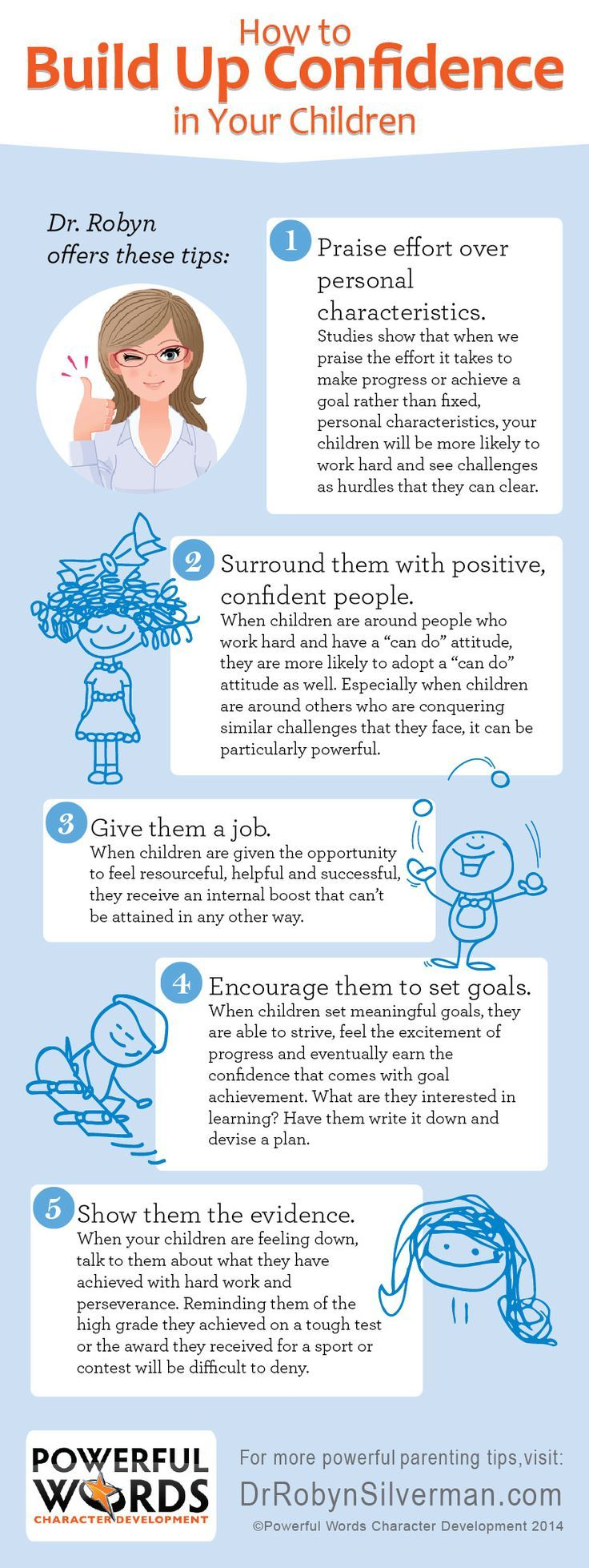 Great How To Build Up Confidence In Your Children #powerfulwords #drrobyn