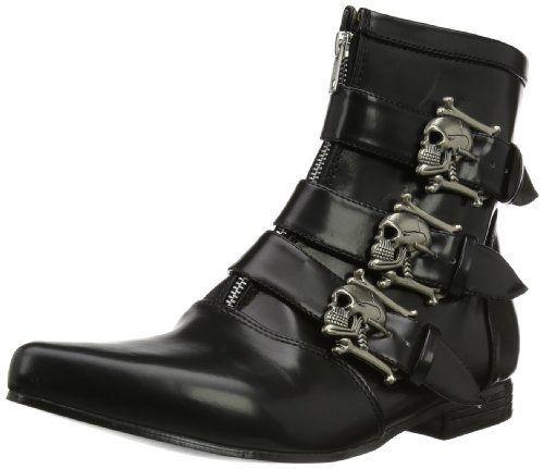 Pleaser Men's Brogue-06 Boot,Black Nappa Polyurethane,13 M US - http://authenticboots.com/pleaser-mens-brogue-06-bootblack-nappa-polyurethane13-m-us/