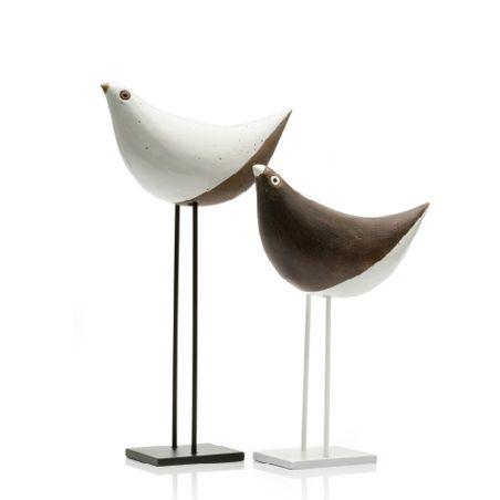 'Couple of birds' Ornament, Aldo Londi for Bitossi Ceramiche