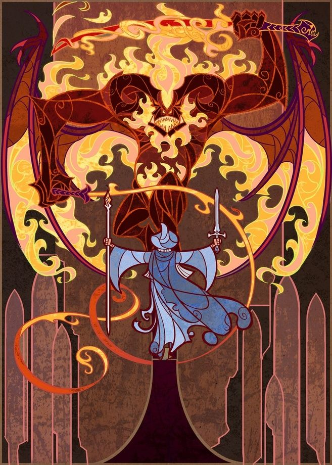 Fellowship Of The Ring Stained Glass