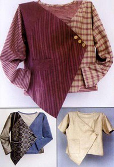 Sew Unique Sew Simple Blouse To showcase handwoven Saori fabric!