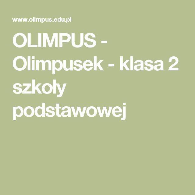 OLIMPUS - Olimpusek - klasa 2 szkoły podstawowej