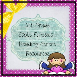Reading street student centered resources and 6th grade reading
