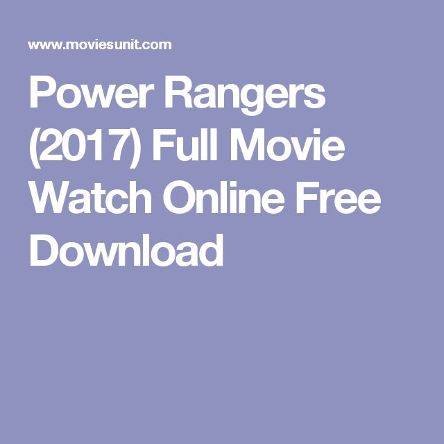 Power Rangers (2017) Full Movie Watch Online Free Download
