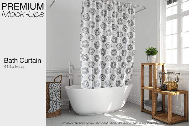 Bath Curtain Mockup Pack 67249 Mockups Design Bundles Mockup Free Psd Psd Mockup Template Free Psd Mockups Templates