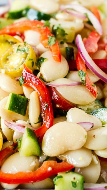 Lima Bean Salad ~ Full of flavor