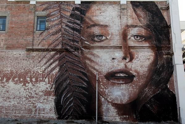 Teresa Oman by Rone, Worcester Street, Christchurch, New Zealand