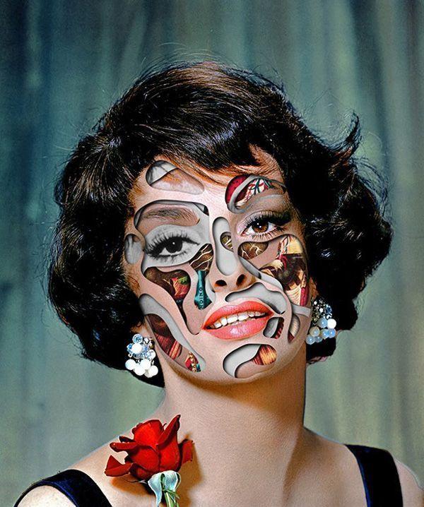 Faces by Matthieu Bourel Evokes a Fake History Through Art #hollywood #hair trendhunter.com