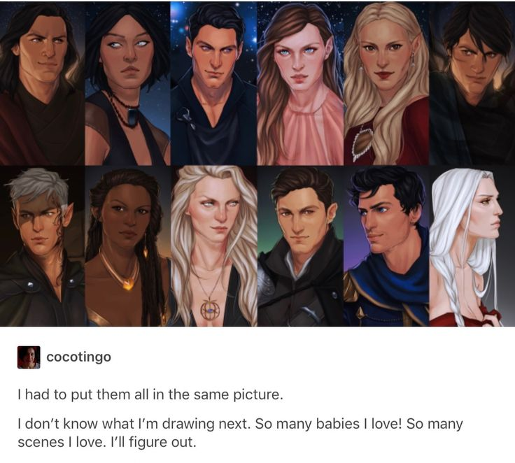 The Court of Dreams and Throne of Glass characters.