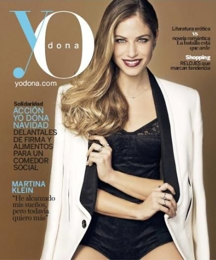 Martina Klein - YO DONA Magazine Cover [Spain] (7 December 2012)