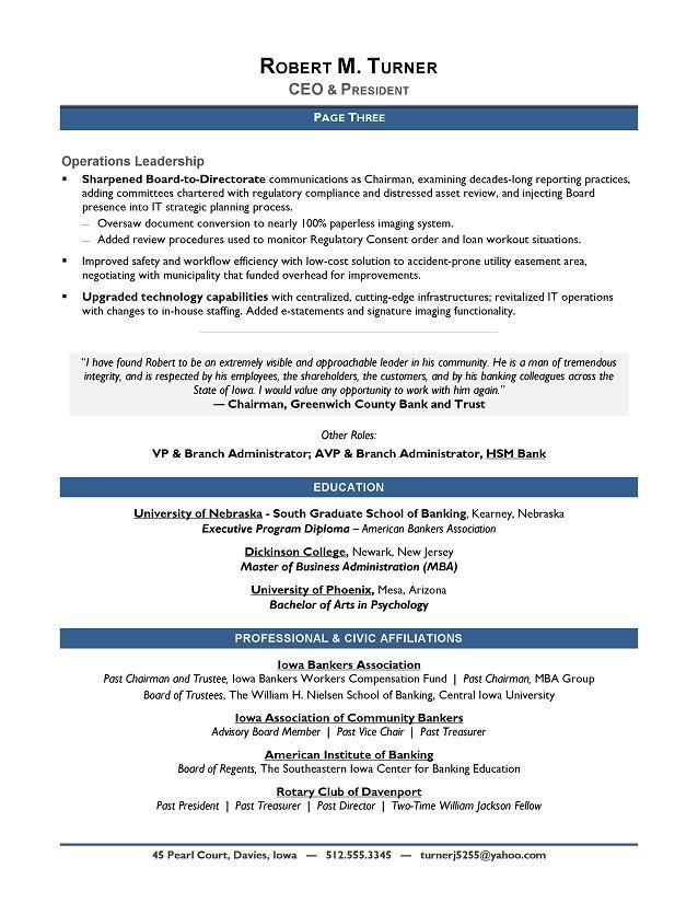 AwardWinning CEO Sample Resume  CEO Resume Writer