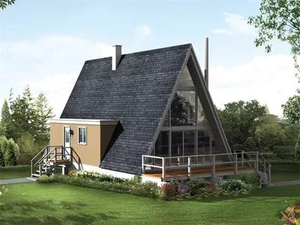 Best 25 a frame house plans ideas on pinterest a frame for 14x14 cabin with loft