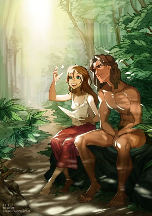 OKAY can we talk about who's the REAL Disney Princess here? I love Jane but come on; Tarzan's animal friends came to rescue him from a ship when they were all held captive. He talks to animals, that's like intense Disney Princess criteria right there. Who says you have to be a girl to be a princess?