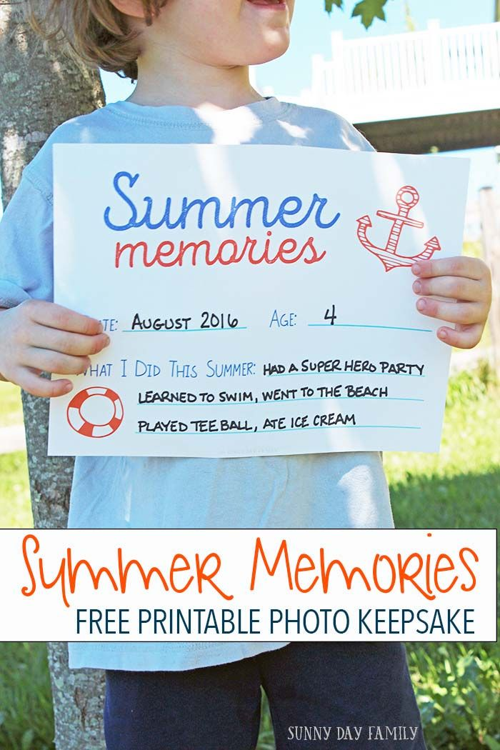 Take an End of Summer Photo to Capture Summer Memories {Free Printable}