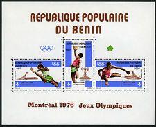 Benin C252a S/S, MNH. Olympic Games,Montreal.Long Jump,Basketball,Hurdles, 1976