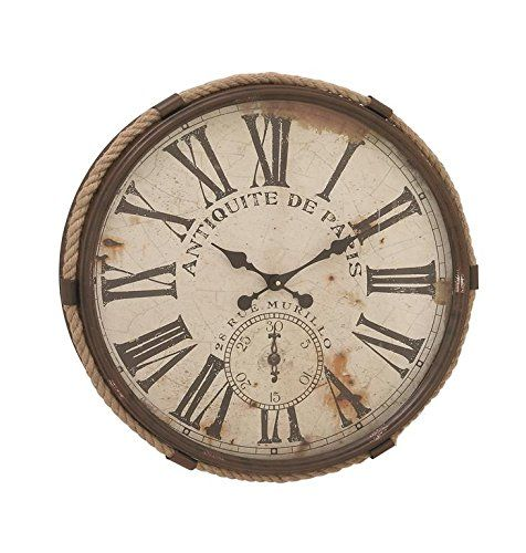 deco 79 metal rope glass wall clock 25 read more details by clicking on