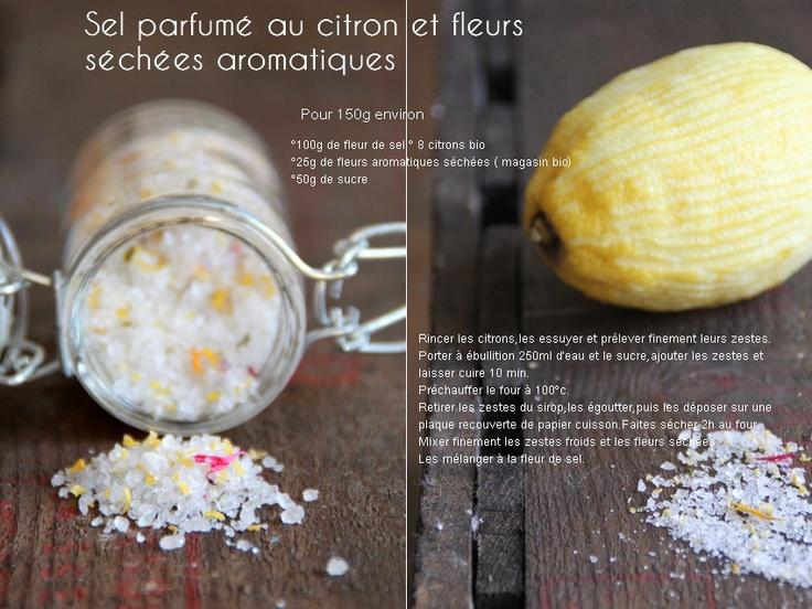 Pause gourmande en Provence: Sel parfumé au citron et fleurs aromatiques séchées,sucre parfumé orange/verveine { je prépare Noël et mes cadeaux gourmands }