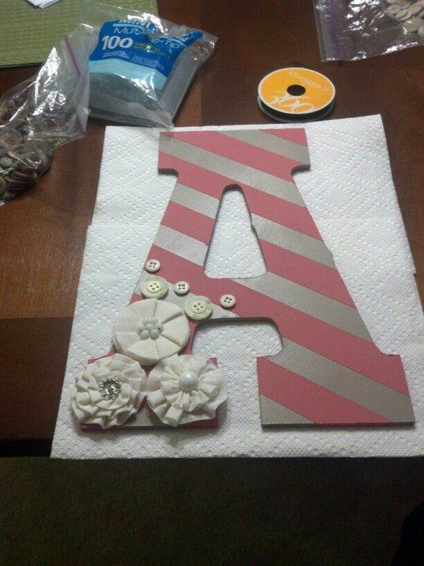 First letter of someone's name or initials...so many possibilities!