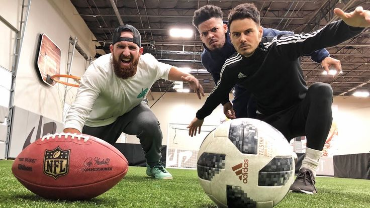 Dude Perfect Are Back With Awesome Football vs Soccer Trick Shots That'll Make You Speechless