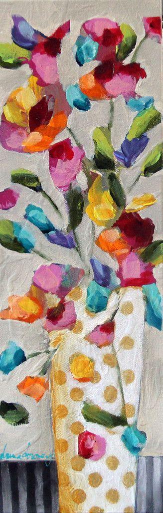 "ORIGINAL   ""Floriated #8"" (#8 of 8 in series) - Donna Downey Studios Inc - 2"