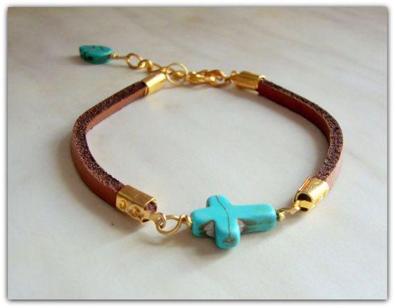 Sideways cross handcraftedbracelet with by ORIGINALsPAINTINGS, €15.00