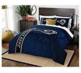 NFL Football Los Angeles Rams Super Soft Luxury Full Size Comforter w/ Matching Pillow Case